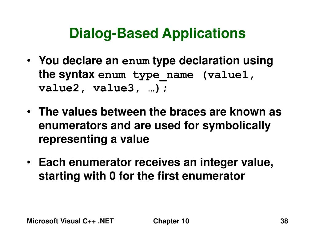 Dialog-Based Applications