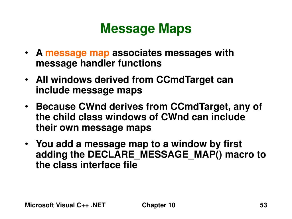 Message Maps