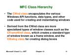mfc class hierarchy11