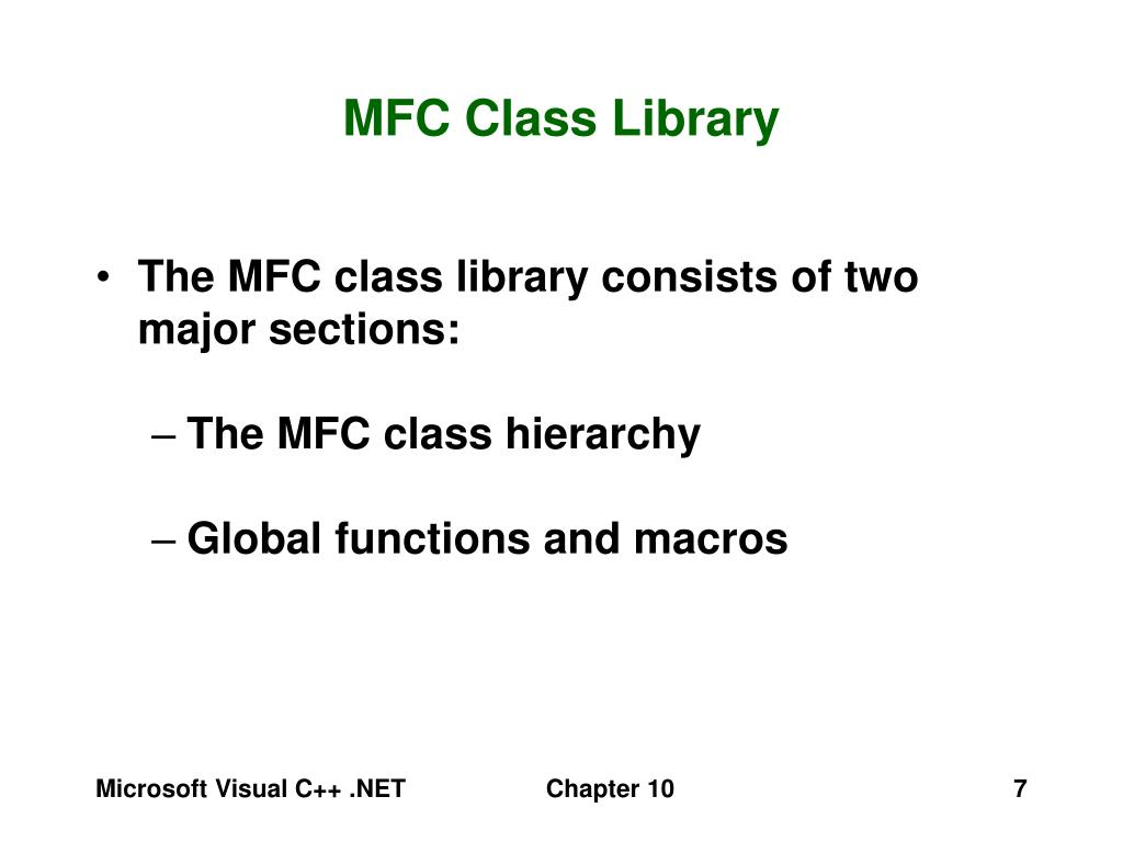 MFC Class Library