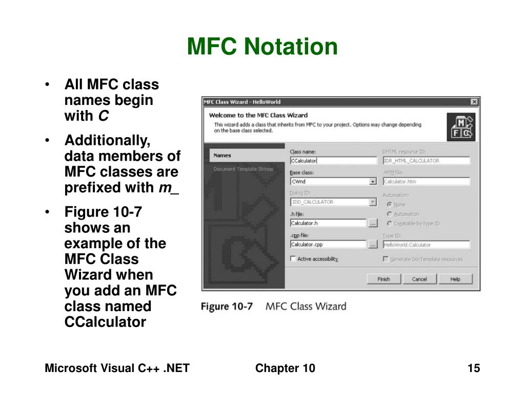 MFC Notation