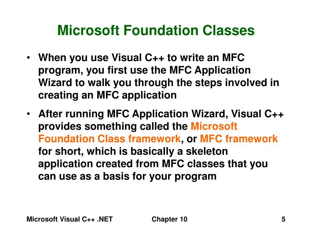 Microsoft Foundation Classes