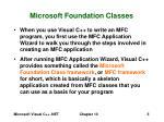 microsoft foundation classes5