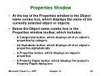 properties window29
