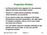 properties window30
