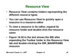 resource view