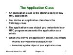 the application class
