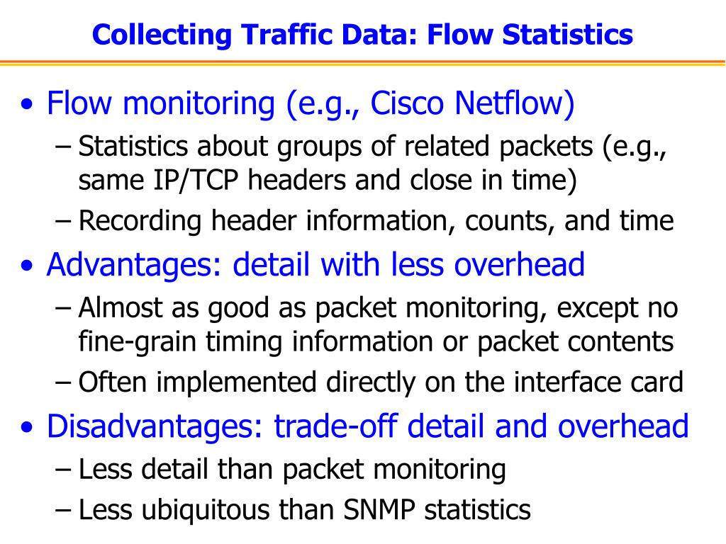Collecting Traffic Data: Flow Statistics