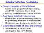 collecting traffic data flow statistics