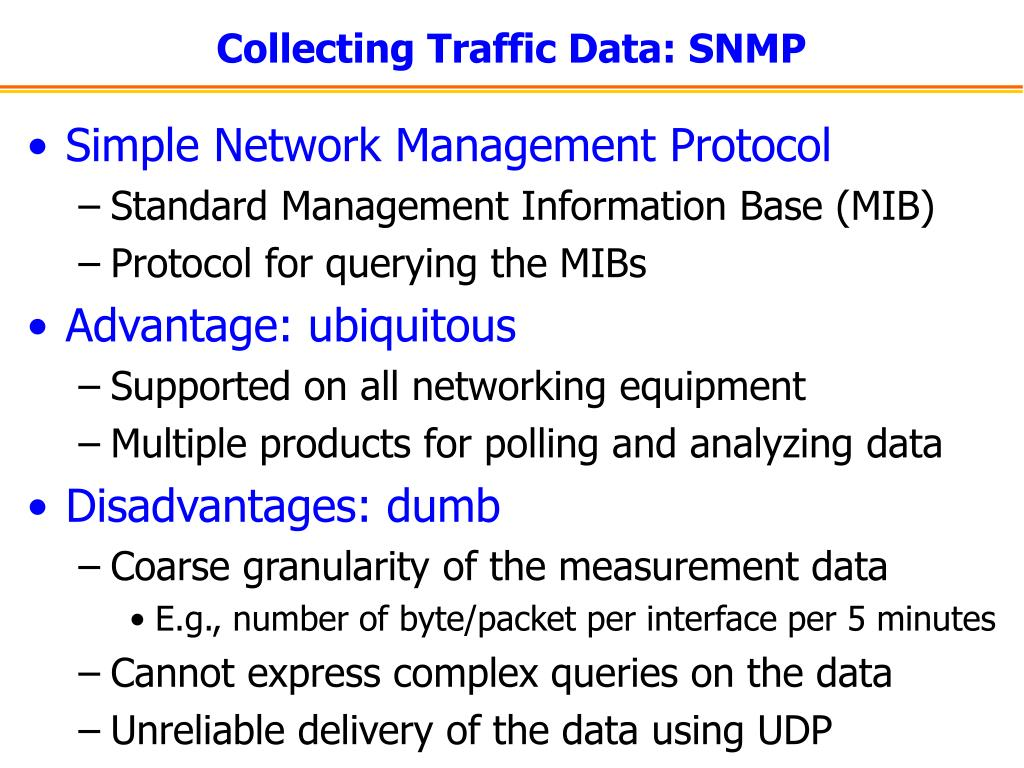 Collecting Traffic Data: SNMP