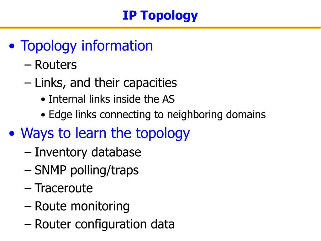 IP Topology