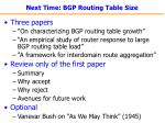 next time bgp routing table size