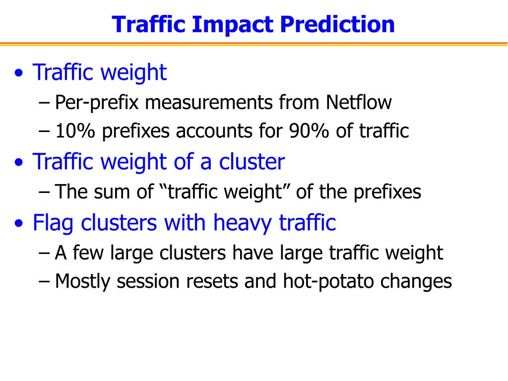 Traffic Impact Prediction
