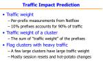 traffic impact prediction