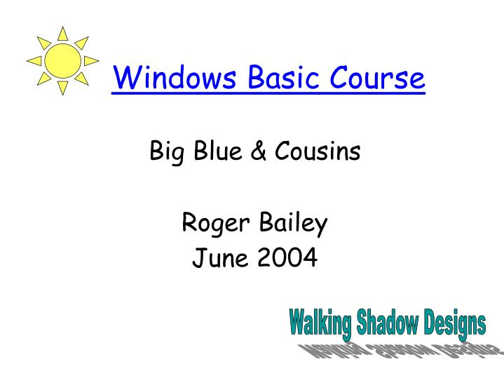 Big blue cousins roger bailey june 2004