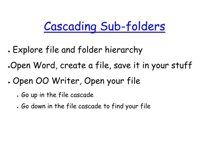 Cascading Sub-folders