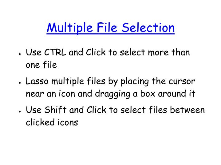 Multiple File Selection