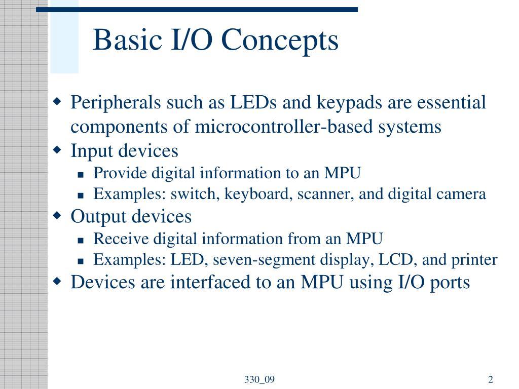 Basic I/O Concepts