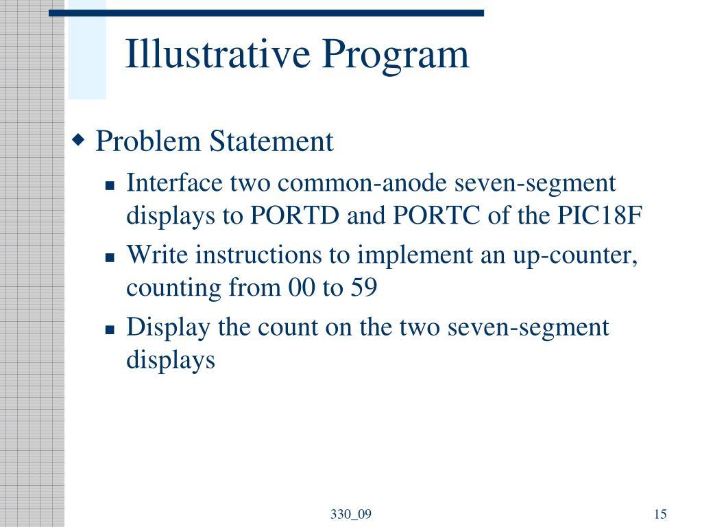 Illustrative Program