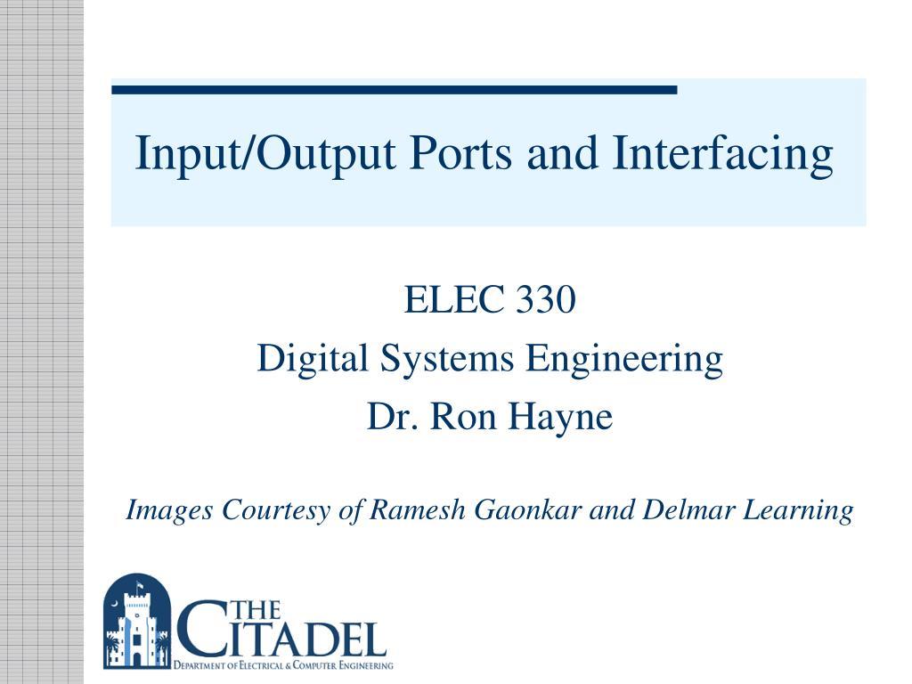 input output ports and interfacing
