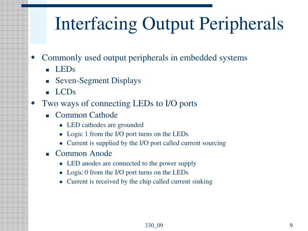 Interfacing Output Peripherals