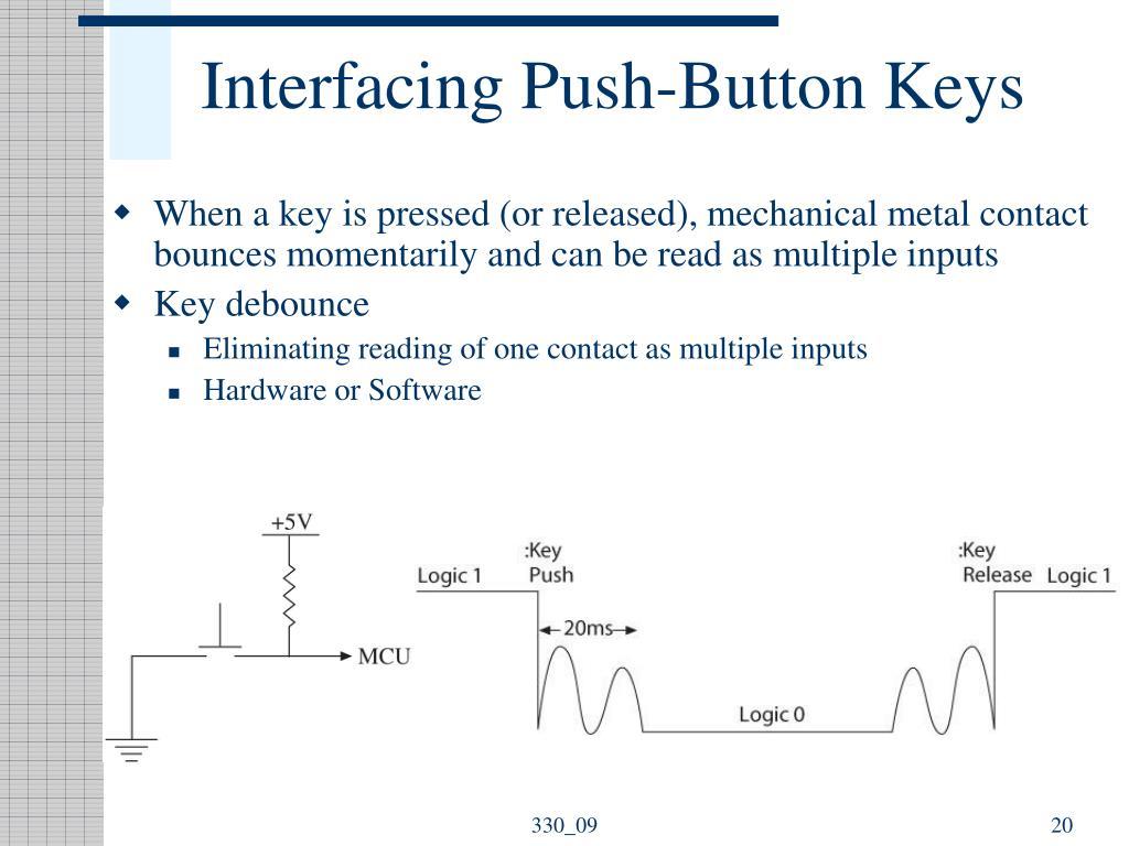 Interfacing Push-Button Keys