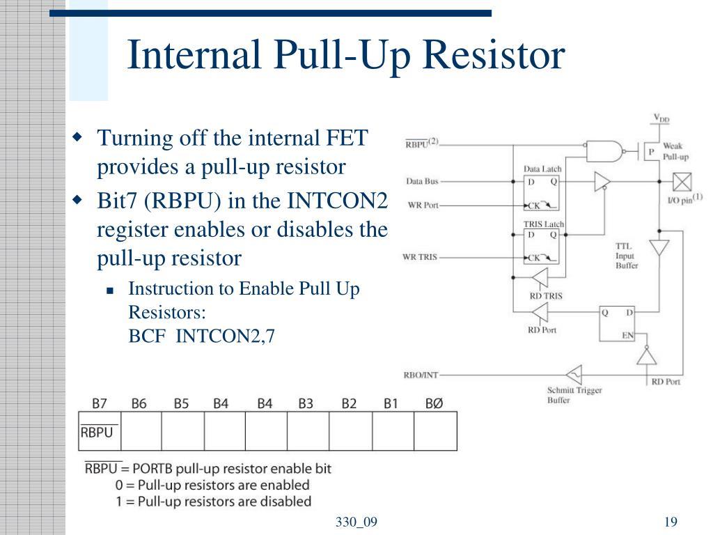 Internal Pull-Up Resistor
