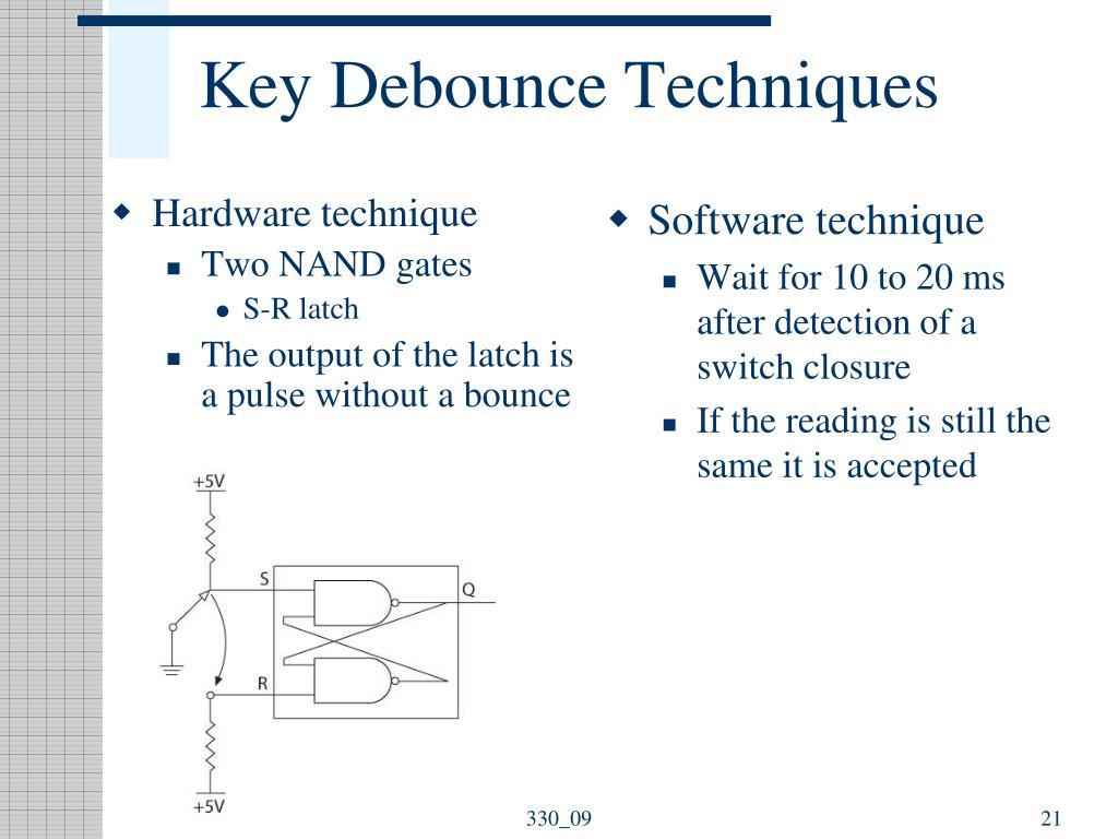 Key Debounce Techniques