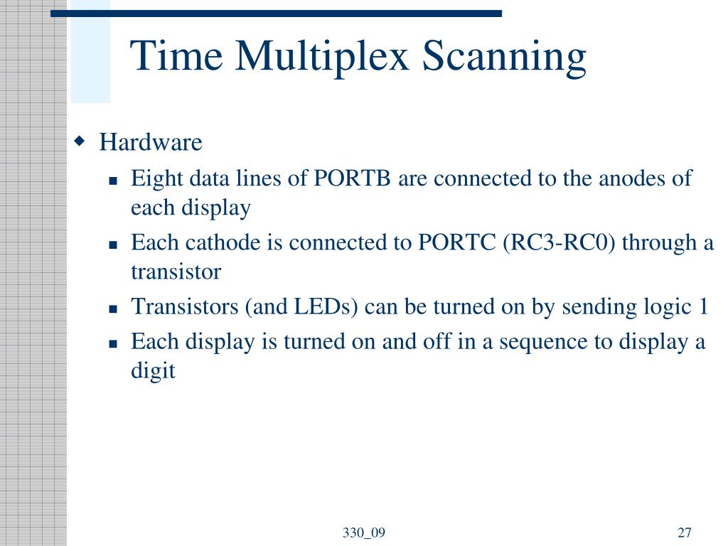 Time Multiplex Scanning