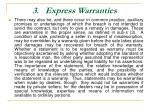 3 express warranties