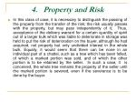 4 property and risk