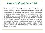 essential requisites of sale