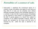 formalities of a contract of sale10