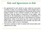 sale and agreement to sale