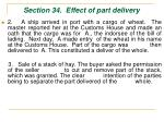 section 34 effect of part delivery50