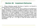 section 38 instalment deliveries