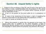 section 46 unpaid seller s rights