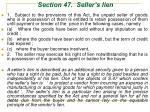 section 47 seller s lien