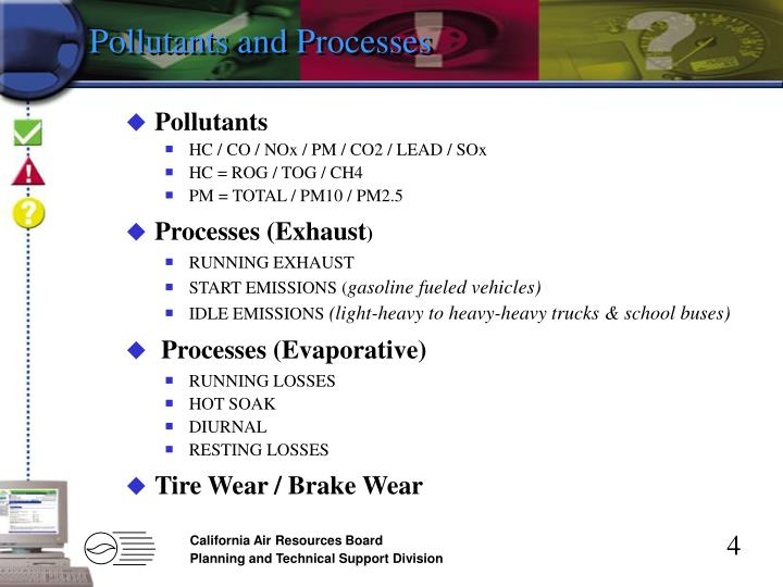 Pollutants and Processes