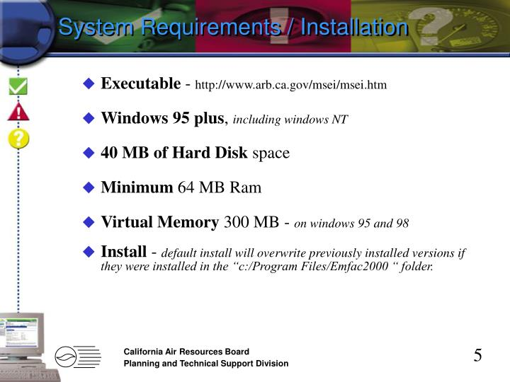 System Requirements / Installation