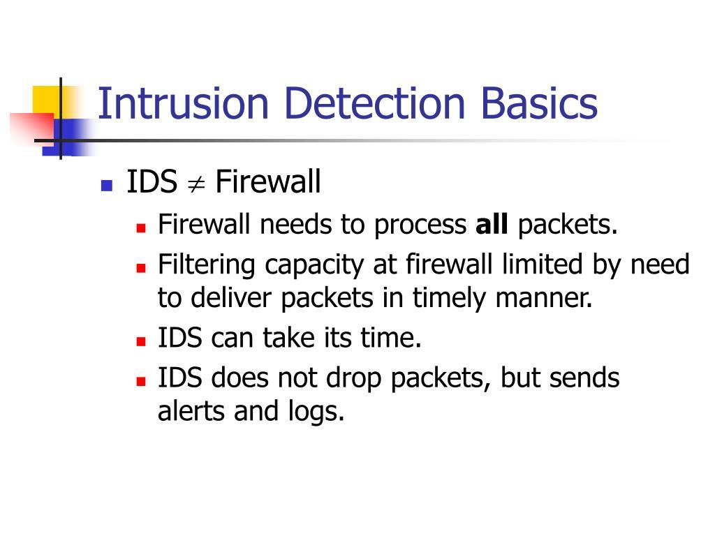 Intrusion Detection Basics