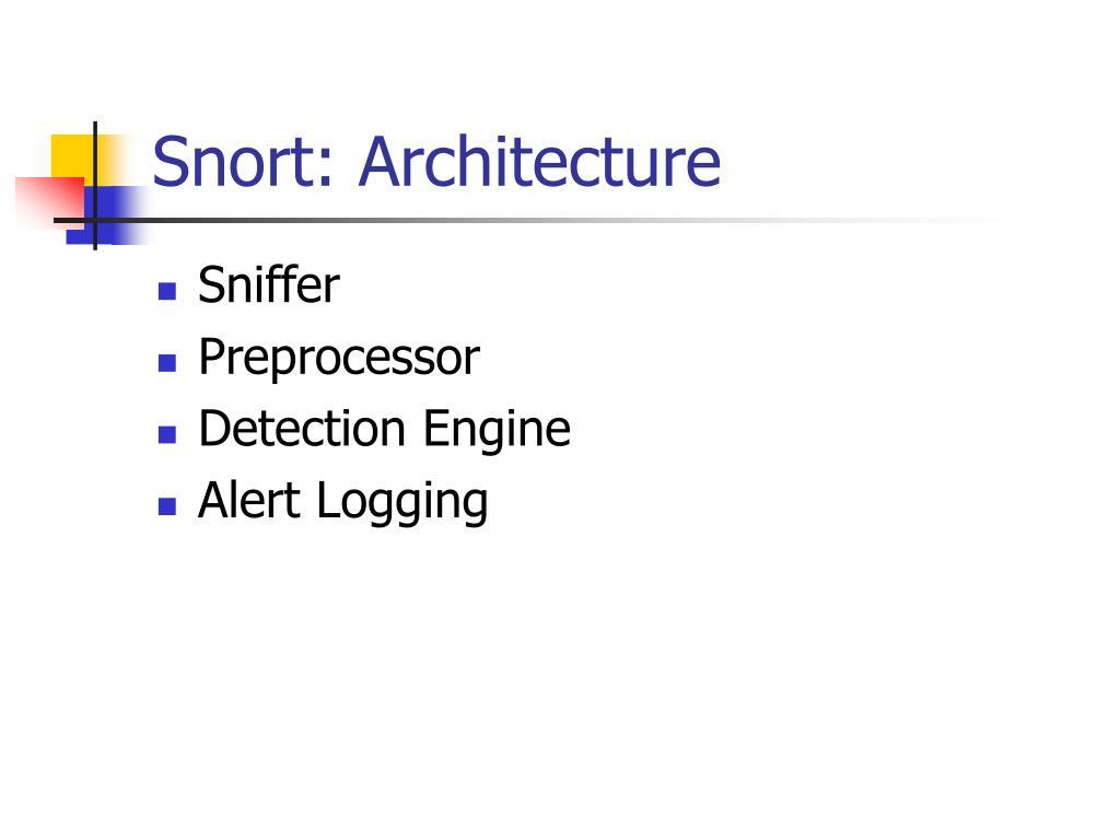 Snort: Architecture