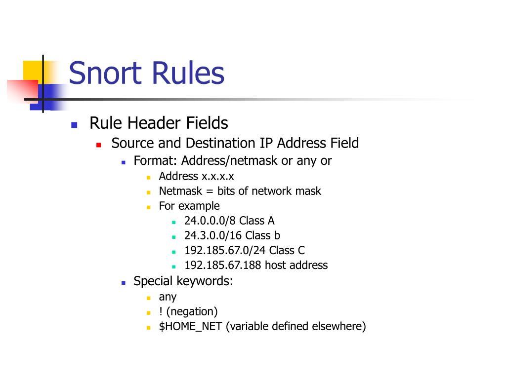 Snort Rules