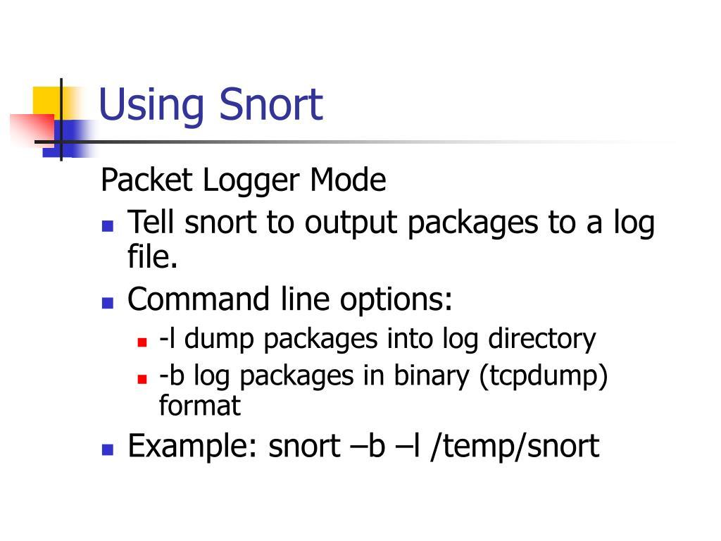 Using Snort