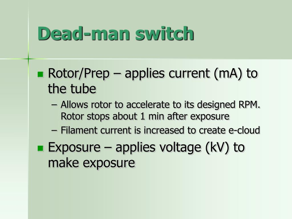 Dead-man switch