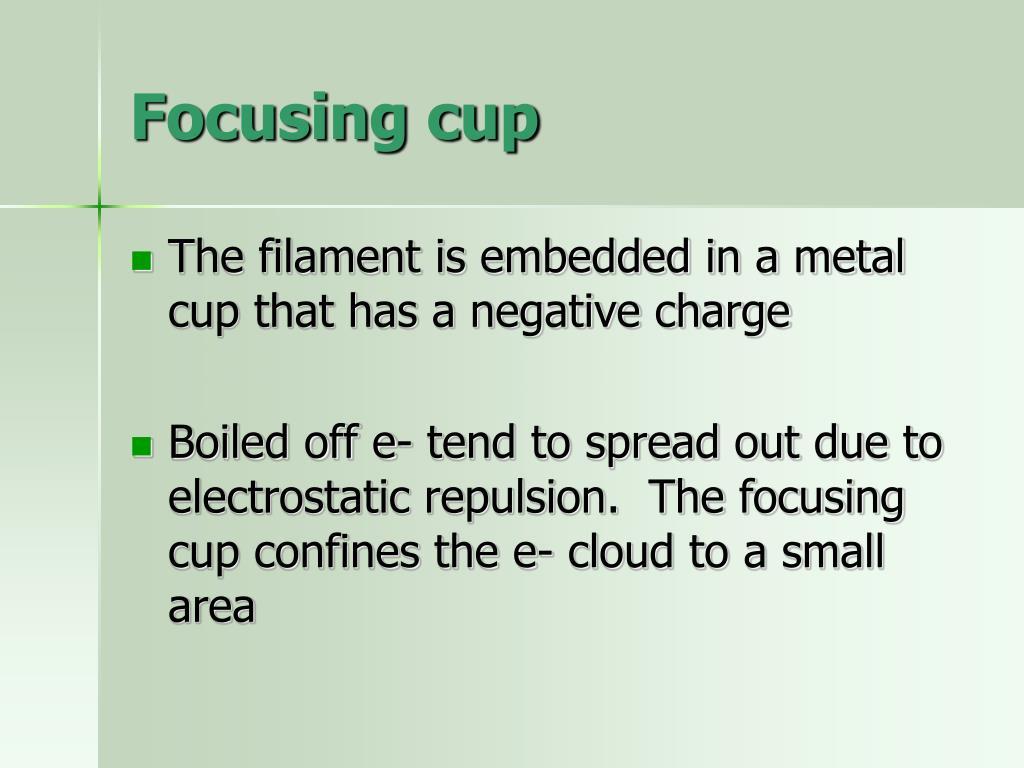 Focusing cup