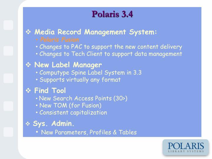 Polaris 3.4
