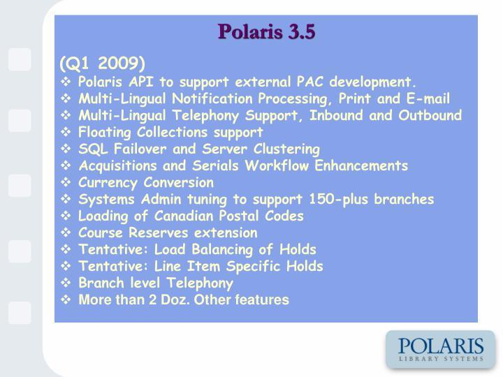 Polaris 3.5