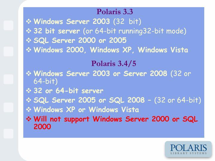 Polaris 3.3