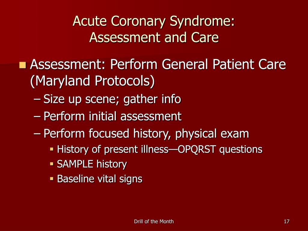 Acute Coronary Syndrome: